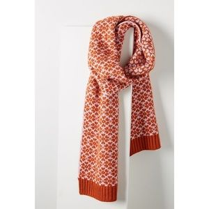 NWT Anthropologie Verloop Graphic Knit Scarf OS